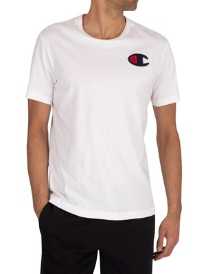 Champion Chest Logo T-Shirt - White