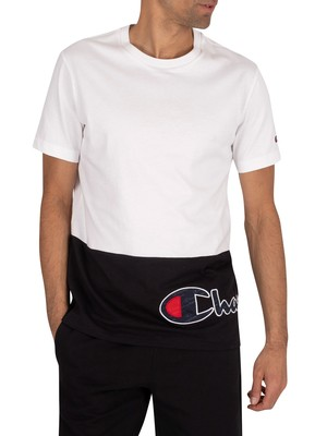 Champion Side Logo T-Shirt - White/Black