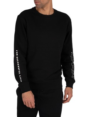 Diesel Lounge Willy Felpa Sweatshirt - Black