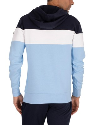 Ellesse Secora Pullover Zip Hoodie - Light Blue