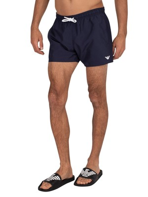 Emporio Armani Short Boxer Swim Shorts - Navy Blue