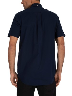 Gant Broadcloth Short Sleeved Shirt - Marine