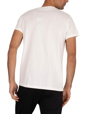 Gant Medium Shield T-Shirt - Eggshell