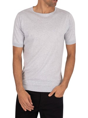 John Smedley Belden T-Shirt - Feather Grey