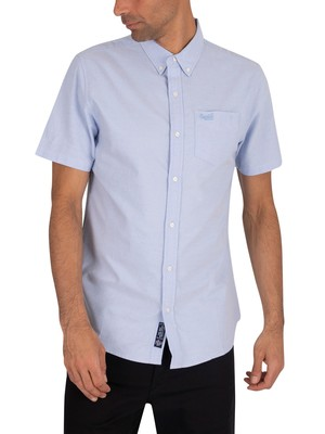 Superdry Classic University Oxford Shortsleeved Shirt - Classic Blue