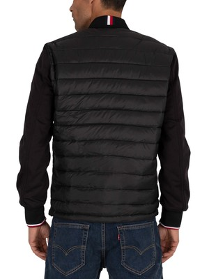 Tommy Hilfiger Mix Media Bomber Jacket - Black
