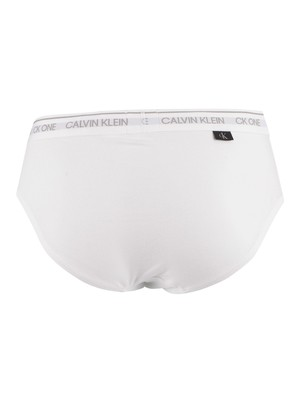 Calvin Klein CK One Hip Briefs - White