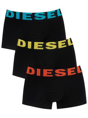 Diesel Shawn 3 Pack Cotton Stretch Trunks - Black