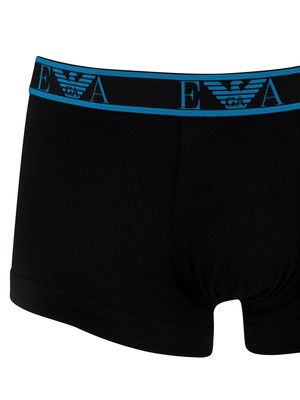 Emporio Armani 3 Pack Trunks - Navy/Blue