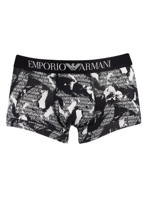 Emporio Armani Pattern Trunks - Black