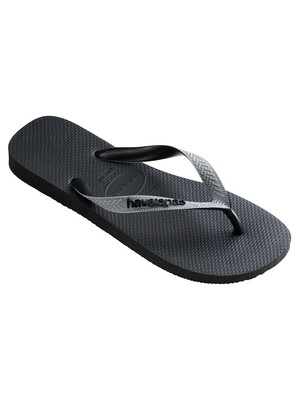 Havaianas Top Mix FC Flip Flops - Black/Steel Grey