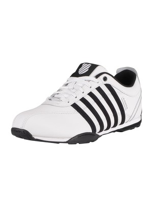 K-Swiss Arvee 1.5 Leather Trainers - White/Black/Silver
