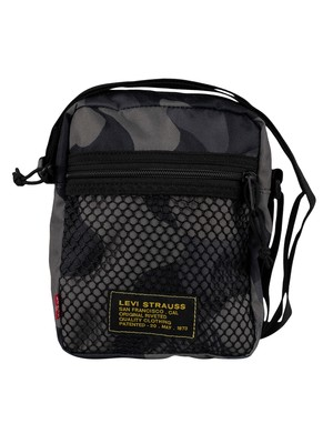 Levi's Series Mesh X-Body Bag - Dark Grey