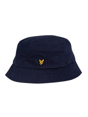 Lyle & Scott Cotton Twill Bucket Hat - Dark Navy