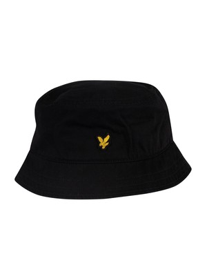Lyle & Scott Cotton Twill Bucket Hat - True Black