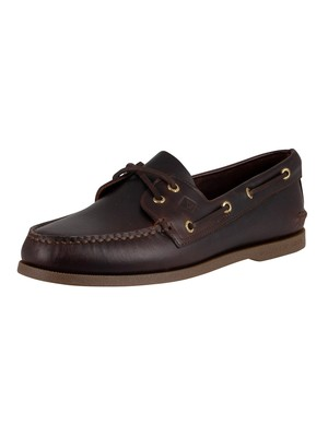 Sperry Top-Sider Amaretto Leather Boat Shoes - Brown