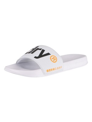 Superdry Classic Pool Sliders - Optic