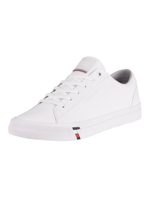 Tommy Hilfiger Corporate Leather Trainers - White