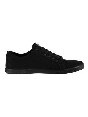 Tommy Hilfiger Iconic Long Lace Trainers - Black/Black
