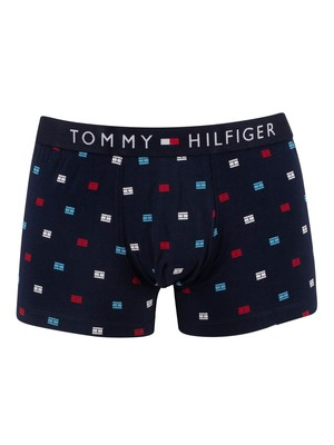 Tommy Hilfiger Pattern Trunks - Navy Blazer