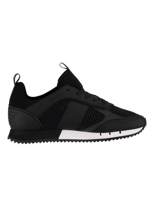 EA7 Woven Trainers - Black/White
