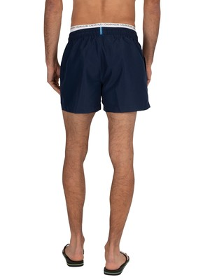 Calvin Klein Short Double Waistband Swim Shorts - Black Iris Navy