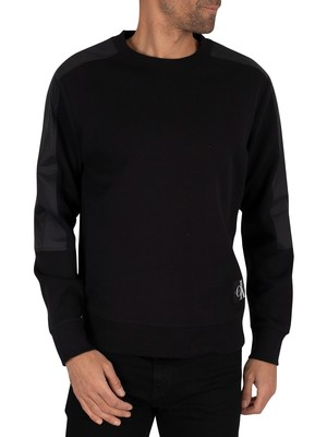 Calvin Klein Jeans Mixed Media Sweatshirt - Black