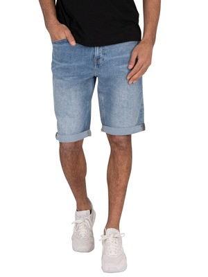 Calvin Klein Jeans Slim Denim Shorts - Light Blue