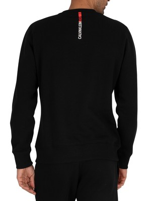 Calvin Klein Jeans Stripe Institution Sweatshirt - Black