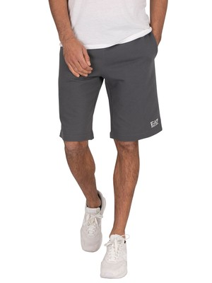 EA7 Logo Sweat Shorts - Iron Gate