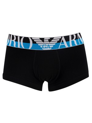 Emporio Armani Mega Logo Trunks - Black