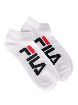 Fila 2 Pack Invisible Socks - White