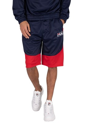 Fila Aries Sweat Shorts - Peacoat/White/Red