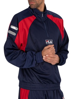 Fila Mercury High His Archive Zip Jacket - Peacoat/White/Red