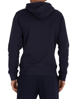Gant Medium Shield Pullover Hoodie - Evening Blue