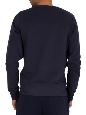 Gant Medium Shield Sweatshirt - Evening Blue
