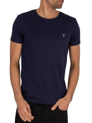 Gant Original Slim T-Shirt - Evening Blue