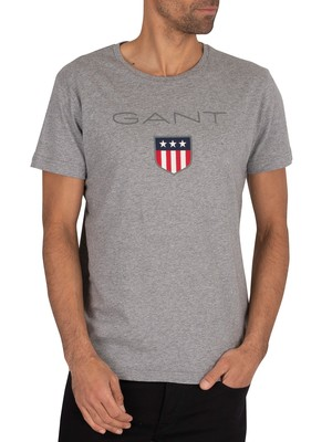 GANT Shield T-Shirt - Grey Melange
