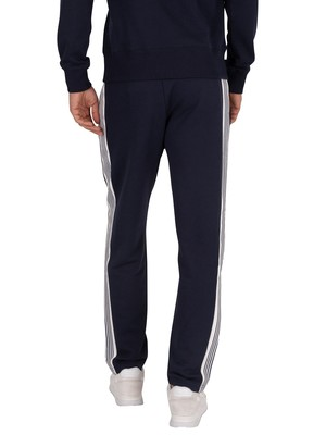 Gant Stripe Joggers - Evening Blue
