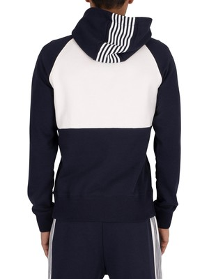 Gant Stripes Pullover Hoodie - Evening Blue