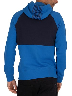 Gant Stripes Pullover Hoodie - Nautical Blue