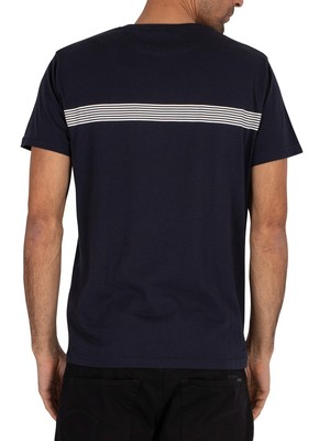 Gant Stripes T-Shirt - Evening Blue