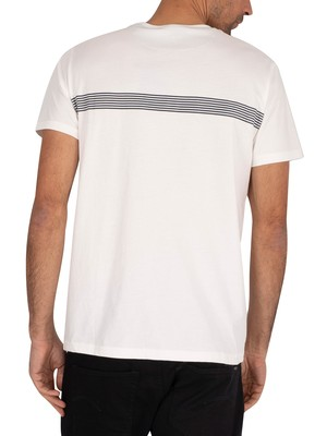 Gant Stripes T-Shirt - Eggshell
