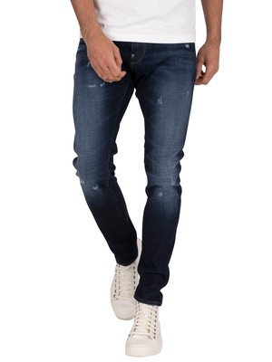 G-Star Revend Skinny Jeans - Worn In Sapphire Destroyed
