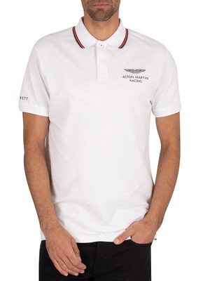 Hackett London AMR Fine Tip Polo Shirt - White