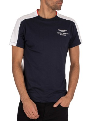 Hackett London AMR Multi T-Shirt - Navy/White