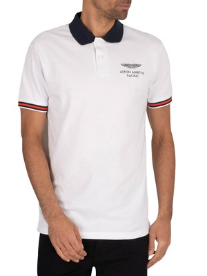 Hackett London AMR Tape Polo Shirt - White