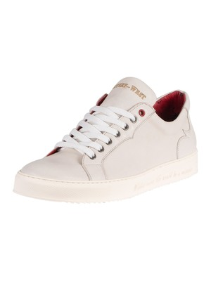Jeffery West Leather Trainers - Polar Nature