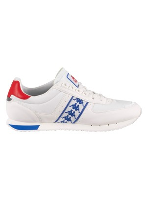 Kappa Curtis Leather Trainers - White/Blue/Red