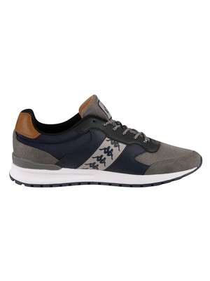 Kappa Jolino Leather Trainers - Dark Navy/Dark Grey/Bronze